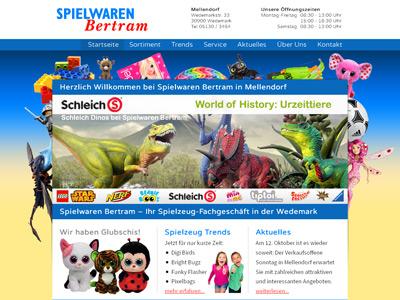 Webdesign für Spielwaren Bertram von ERNST MEDIA