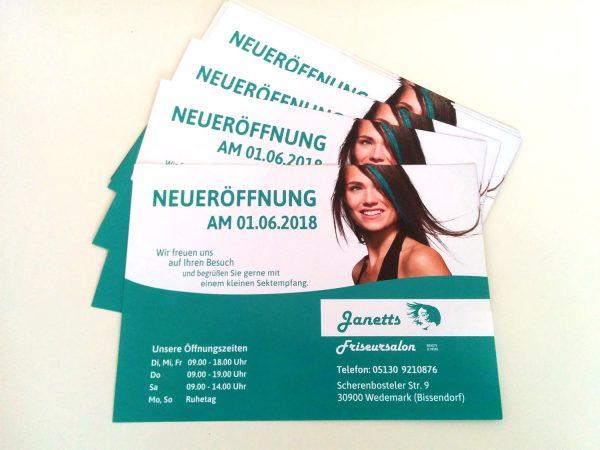 janetts friseursalon bissendorf flyer neueroeffnung