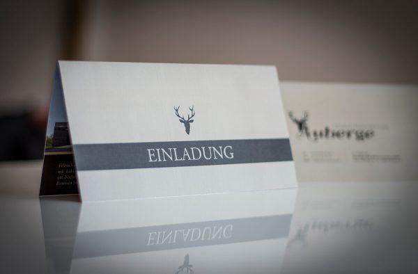 Printdesign Einladungskarten hus de groot