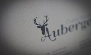 Printdesign Einladungskarten Auberge
