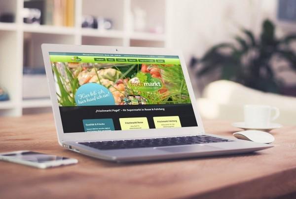 Responsive Webdesign Frischmarkt Pagel Resse Fuhrberg