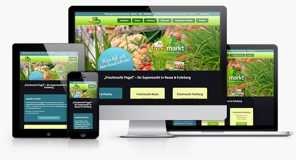 Responsive Webdesign Frischmarkt Pagel