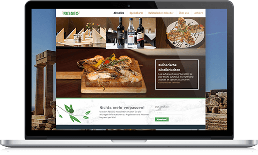 Webdesign Resseo griechisches Restaurant