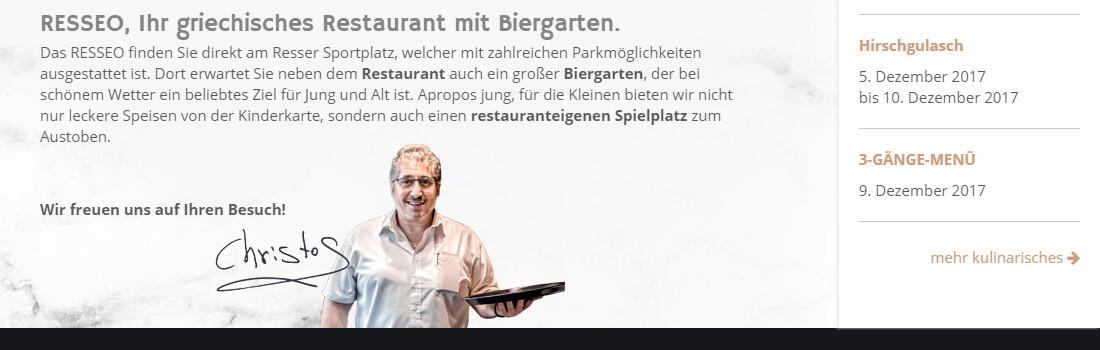 Webdesign Resseo Restaurant