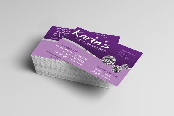 Visitenkarten Design Print Karins Schmucklädchen