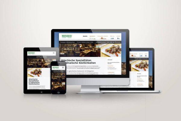 Webdesign Mockup Resseo