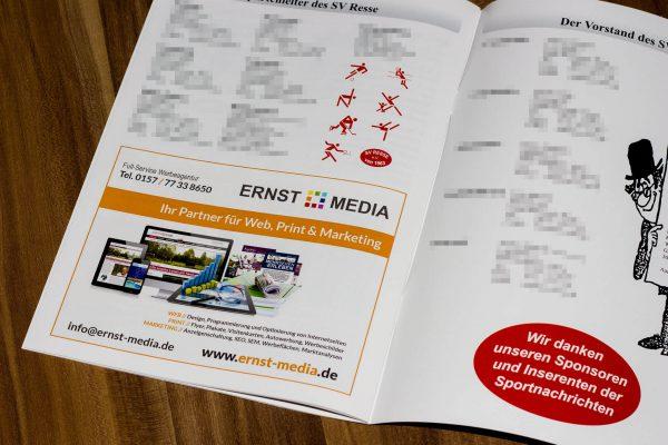 SV Resse Sportnachrichten Werbung