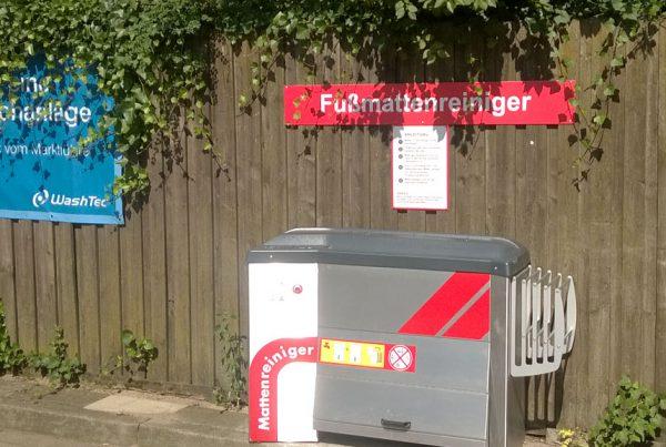 Esso Mellendorf Fussmattenreiniger Schild