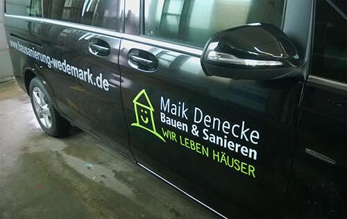 Fahrzeugbeschriftung Printdesign Maik Denecke Seite