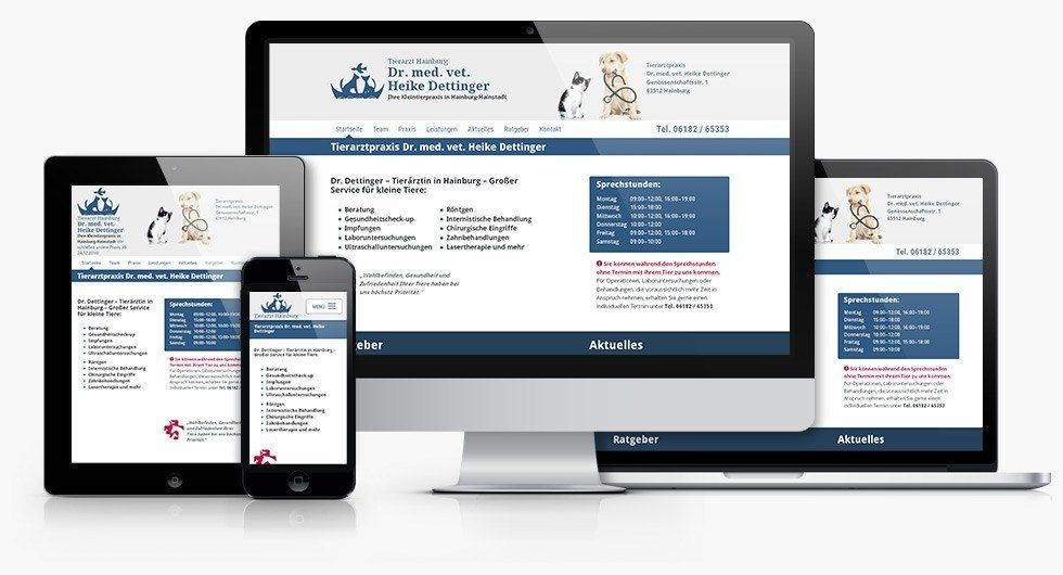 Responsive Webdesign Tierarzt Hainburg