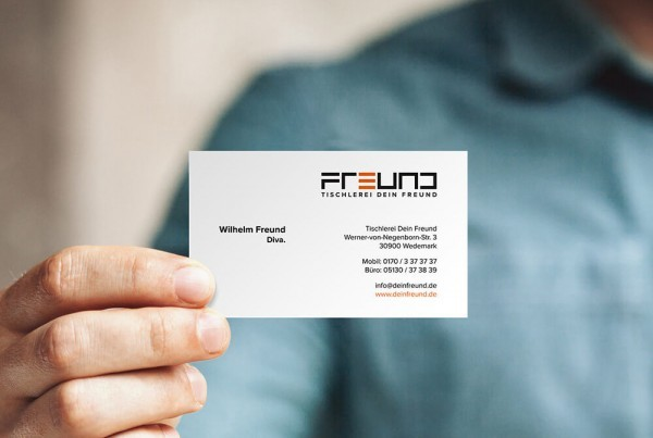 Visitenkarte Printdesign Tischlerei Dein Freund